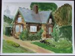 House in acrylic by DocUnissis