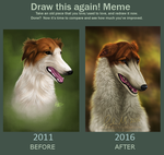 Draw this again - Borzoi by t1sk1jukka