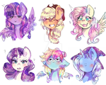 Some pony sketches by dream--chan