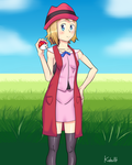 Pokemon XYZ Serena by Kahullt