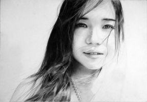 Elle - WIP3 - 9th portrait by manany