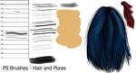 PS Brushes - Hair and Pores by Dark-Zeblock