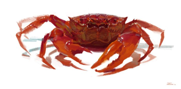 Big Red Crab by zhuzhu
