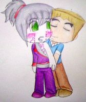 chibi Pixal and Zane by sammiethehedgehog13