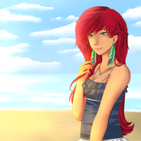 A Sunni day at the beach by Xylerz