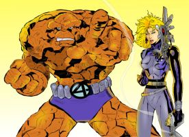 Invisible Woman and The Thing by lordhelikaon
