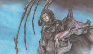 Kerrigan, Queen of Blades Playmat by MadManny510
