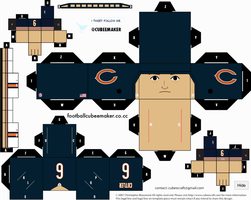 Jay Cutler Bears Cubee by etchings13