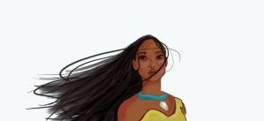 Speedpaint: Pocahontas by IsidithRose