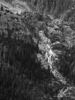 Waterfalls from Mount Rogers in Rogers Pass by Sybaristail