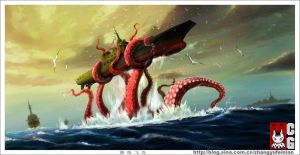 Octopus Sea of Japan by huihui1979
