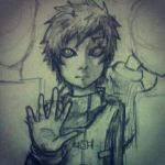 I'm just a freak..(Gaara Fan art) by MaxieFlarMlay
