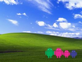 ANDROID ROBOT Wallpaper by patomite