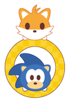 Sonic and Tails x Tsum Tsum ::GIFT:: by Itachi-Roxas