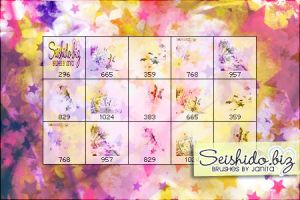 FREE Grungy Star Brushes by seishido