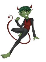 Devil Beast Boy by BeastGreen