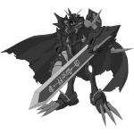 Black Omnimon X: Shadow Mode by draziwnogard