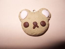 kawaii bear cookie charm by Overlyretardedkawaii