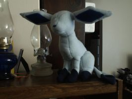Glaceon Plushie WIP by Gradendine