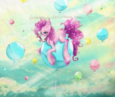 Pinkie pie likes balloons! by dreampaw