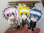 Lightning, Cloud and Noctis by Moonlite-Star