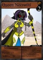 NecroMasters Card # 028 - Queen Necrotiti by PlayboyVampire