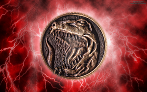 New MMPR HD Power Coin Wallpaper (Red) by RussJericho23