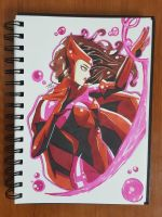 Day 124 Scarlet Witch by TomatoStyles