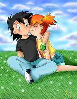 Ash and Misty by sunshineikimaru