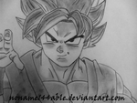 Low Class Saiyan Warrior by noname144able