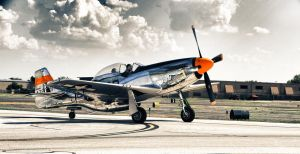 Kevin In the P-51 Mustang by JSF1