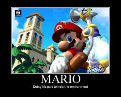 Mario motivational poster by SuperMarioStar777
