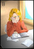 Deidara at School by invisibleninja12