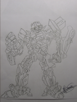 Bumblebee caricature sketch by RyGuy52
