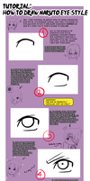 Tutorial: Kishimoto style: EYES. by MayaNara