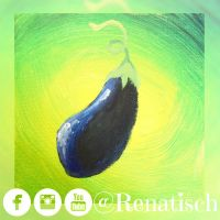 Painting of an Eggplant/Aubergine by Renatisch