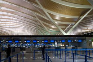 Check-In Counters, Pudong Airport by vanfoto