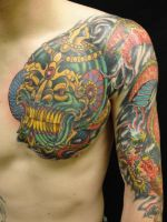 chest panel cover up by newtskewltattoo