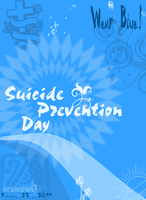 WearBlue,SuicidePreventionday by XLordAndyX