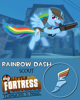 My Little Fortress - Rainbow Dash the Scout by Firestorm-CAN