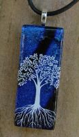 Deep Blue ToL Fused Glass by FusedElegance