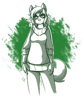 Shades of Green by MewgletheWolf