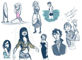 Lots of sketches by liliribs