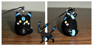 Poke-Peeps Cellphone Charm - Shiny Umbreon by UniqueTreats