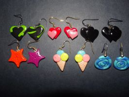 Fimo Earrings 4 by MeticulousBlue