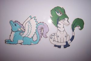 Chibi Dragon Magnets 2 by Anavar