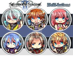 Kingdom Hearts Buttons by jinyjin