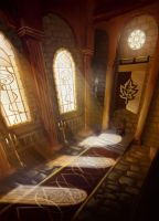 Castle Araluen - Throne Room by PaintedThoughts