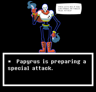 Papyrus: Fight!! by Zefire01