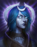 Pillars of Eternity - Female Moon Godlike Portrait by amegani